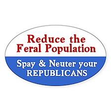 Spay Neuter Republican Decal