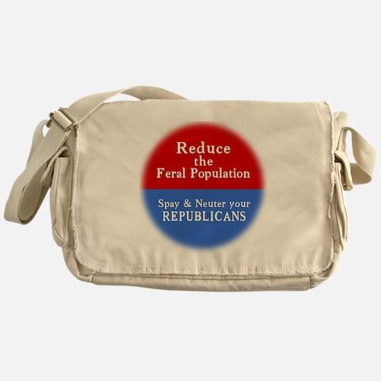 Spay Neuter Republican Messenger Bag