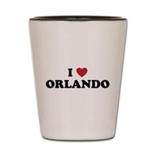 I Love Orlando Florida Shot Glass