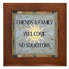 Welcome Sign Framed Tile