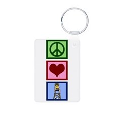 Peace Love Lifeguard Keychains