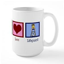 Peace Love Lifeguard Mug