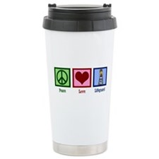 Peace Love Lifeguard Travel Mug