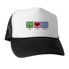 Peace Love Lifeguard Trucker Hat