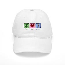 Peace Love Lifeguard Baseball Cap