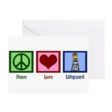 Peace Love Lifeguard Greeting Card