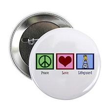 "Peace Love Lifeguard 2.25"" Button"