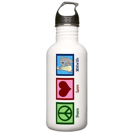 Peace Love Midwife Stainless Water Bottle 1.0L
