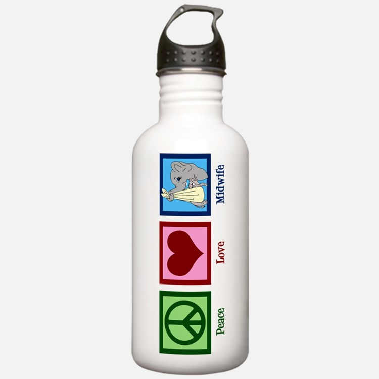 Peace Love Midwife Water Bottle