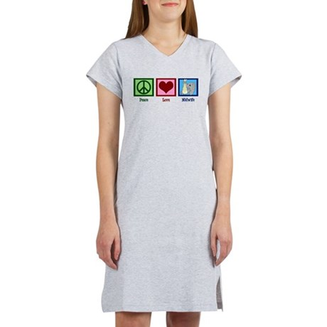 Peace Love Midwife Women's Nightshirt