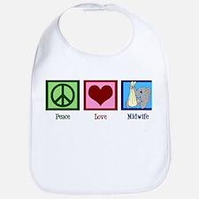 Peace Love Midwife Bib