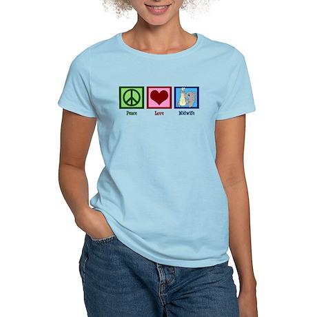 Peace Love Midwife Women's Light T-Shirt