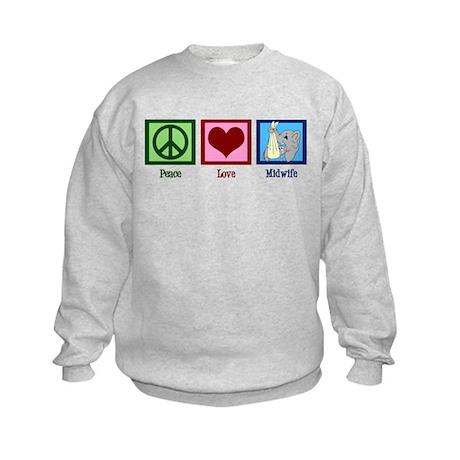 Peace Love Midwife Kids Sweatshirt