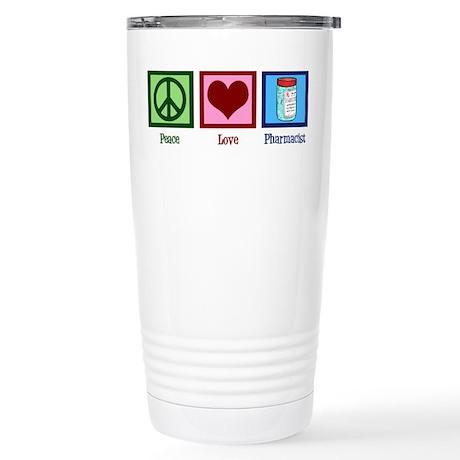 Peace Love Pharmacist Stainless Steel Travel Mug