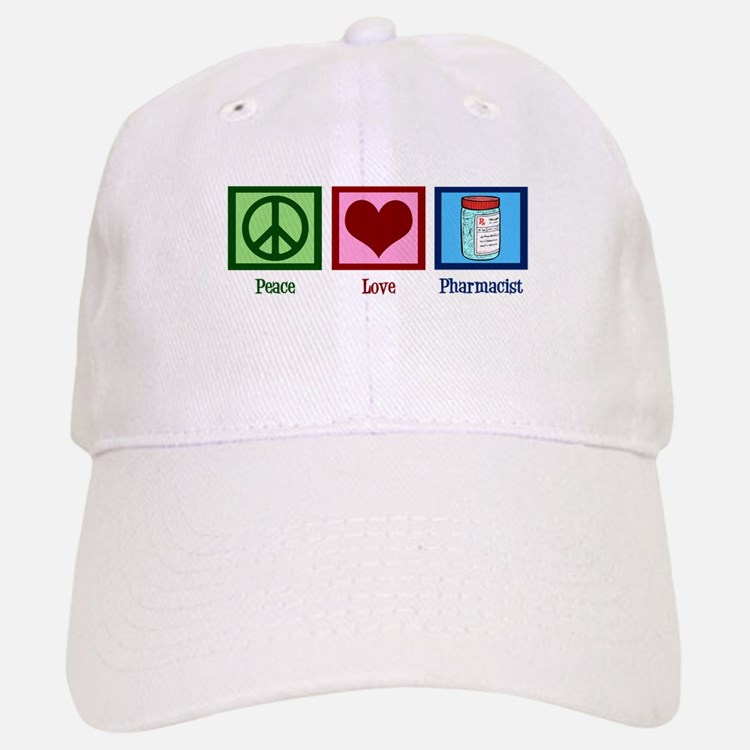 Peace Love Pharmacist Baseball Baseball Cap