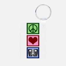 Peace Love Radiology Keychains