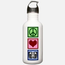 Peace Love Radiology Water Bottle