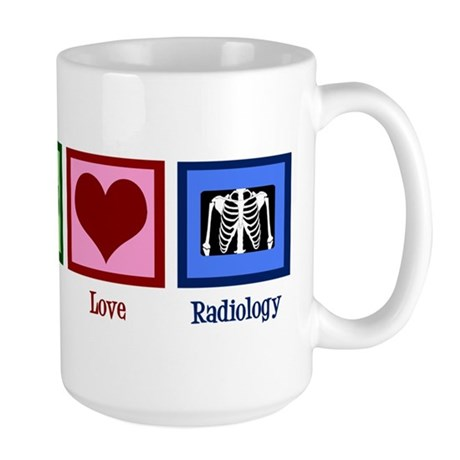 Peace Love Radiology Large Mug
