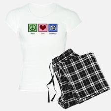 Peace Love Radiology Pajamas