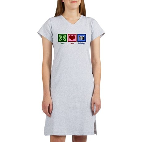 Peace Love Radiology Women's Nightshirt