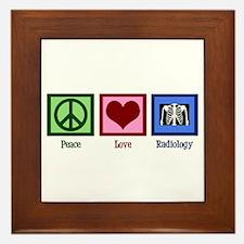 Peace Love Radiology Framed Tile