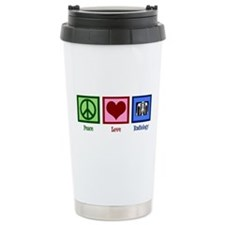 Peace Love Radiology Travel Mug