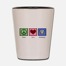 Peace Love Radiology Shot Glass