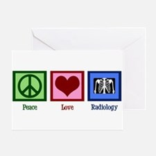 Peace Love Radiology Greeting Card