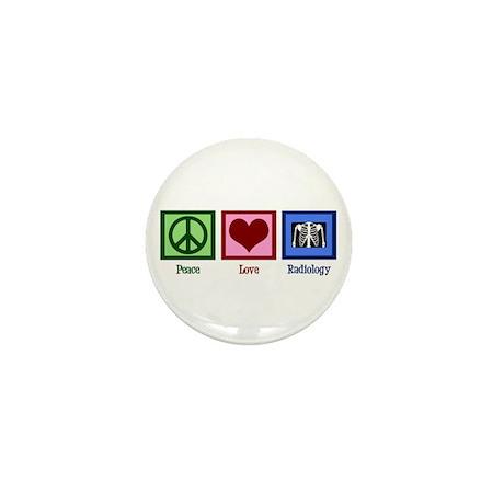 Peace Love Radiology Mini Button