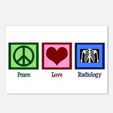 Peace Love Radiology Postcards (Package of 8)