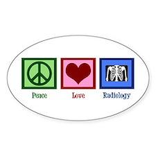 Peace Love Radiology Decal