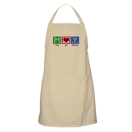 Peace Love Radiology Apron
