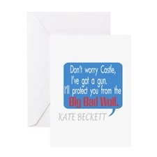 Beckett Big Bad Wolf Quote Greeting Card