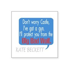 "Beckett Big Bad Wolf Quote Square Sticker 3"" x 3"""