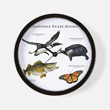Minnesota State Animals Wall Clock