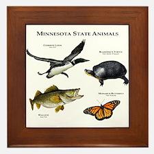 Minnesota State Animals Framed Tile