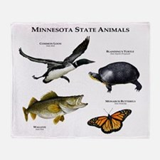 Minnesota State Animals Throw Blanket