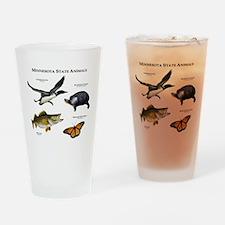 Minnesota State Animals Drinking Glass