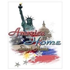 USA - Philippines: Wall Art Poster