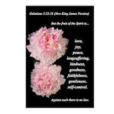 Galatians 5:22-23 (New King James Version) Postcar
