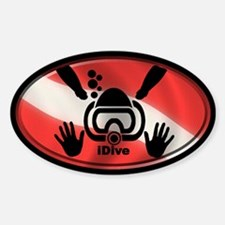 idive flag 3x5 Decal