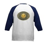 Indian gold oval 2 Kids Baseball Jersey