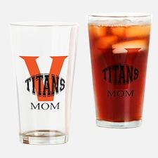 Volusia Titans Mom Drinking Glass
