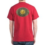 Indian gold oval 2 Dark T-Shirt