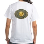 Indian gold oval 2 White T-Shirt