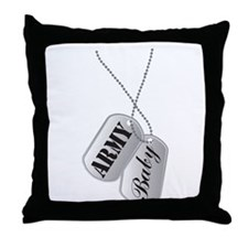 Army Baby Dog Tags Throw Pillow
