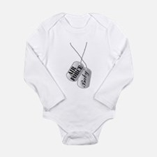 Air Force Baby Dog Tags Long Sleeve Infant Bodysui