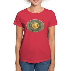 Indian gold oval 2 Women's Dark T-Shirt