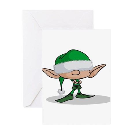 ElfGreen.png Greeting Card