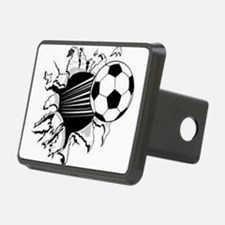 Flying soccer ball Hitch Cover